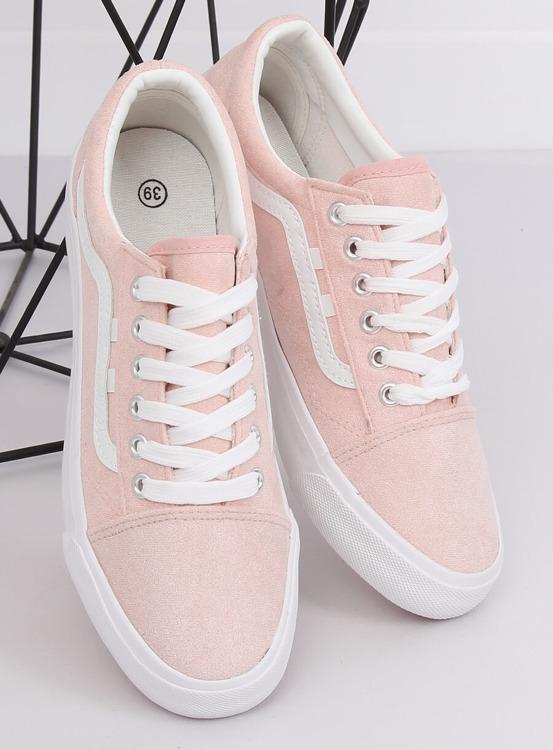 Trampki damskie różowe B70A PINK/WHITE