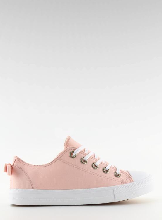 Trampki damskie z kokardką różowe 8935 PINK