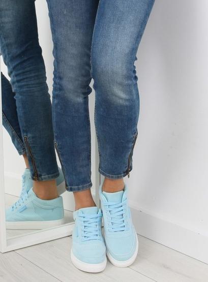 Trampki damskie zamszowe niebieskie NB171P BLUE