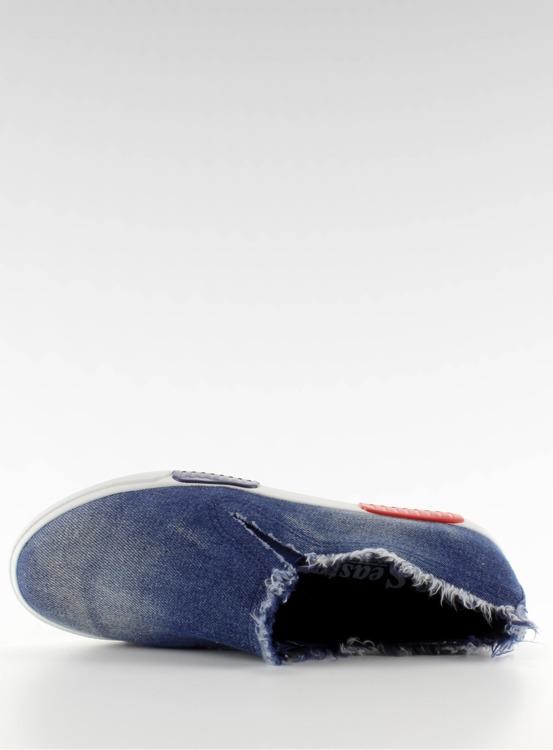 Trampki jeans kolorowa podeszwa BL65 Navy