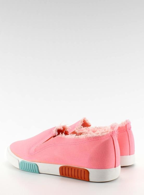 Trampki jeans kolorowa podeszwa BL65 Pink