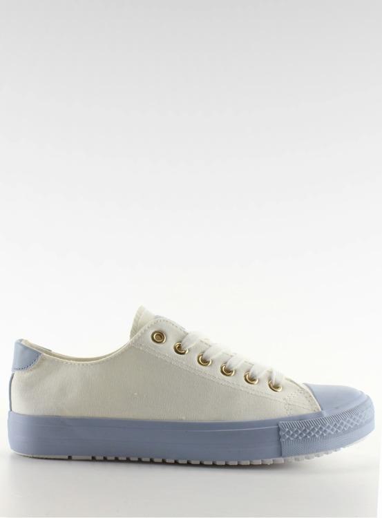 Trampki na kolorowej gumie W-3051 Blue