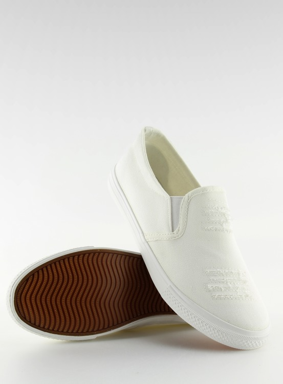 Trampki slip-on białe BL126P WHITE