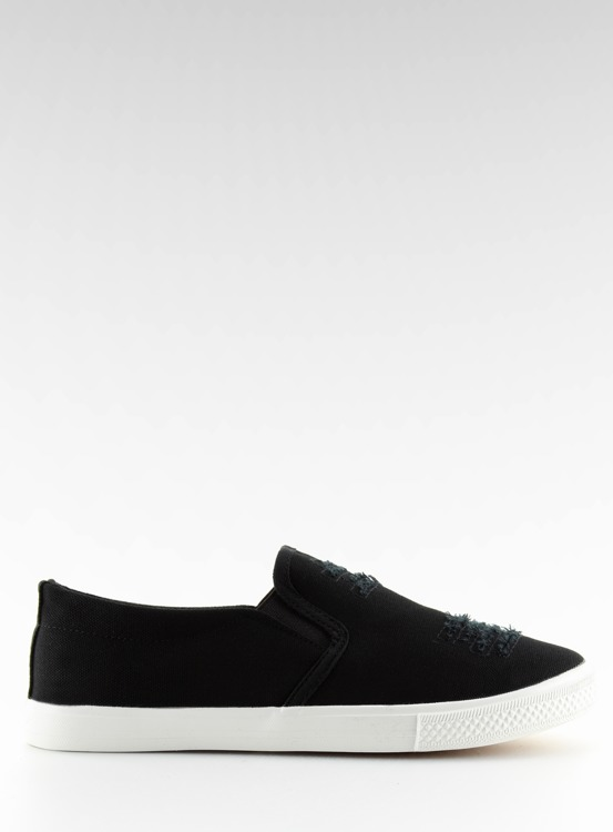 Trampki slip-on czarne BL126P BLACK