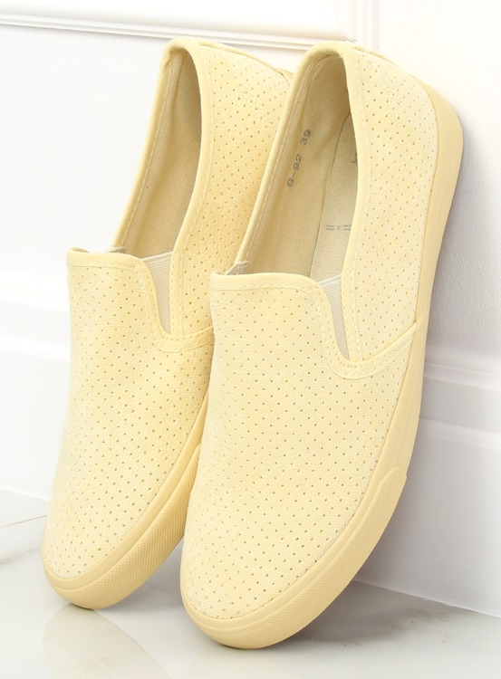 Trampki slip-on żółte G-92 YELLOW