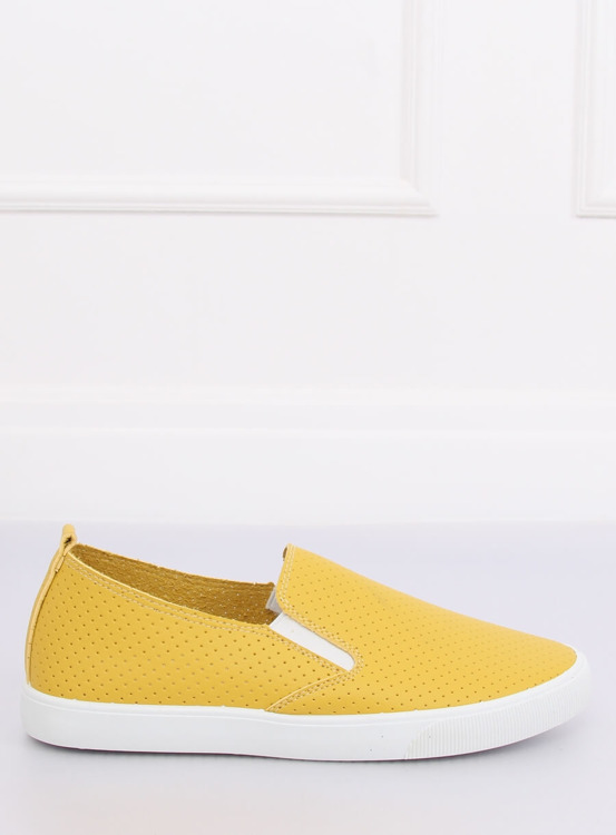 Trampki slip-on żółte WD010-4 YELLOW