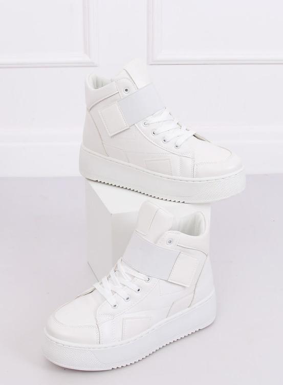 Trampki sneakersy białe LA55 WHITE