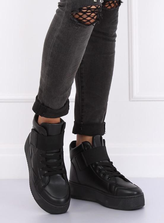 Trampki sneakersy czarne LA55 BLACK