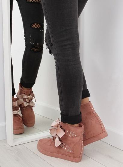Trampki sneakersy różowe A-79 PINK