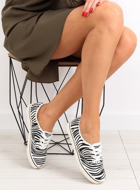 Trampki vansówki sznurowane K-75 Zebra