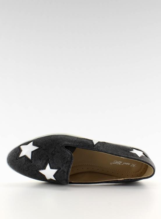 Trampki z gwiazdkami wysoka podeszwa FE454 Black