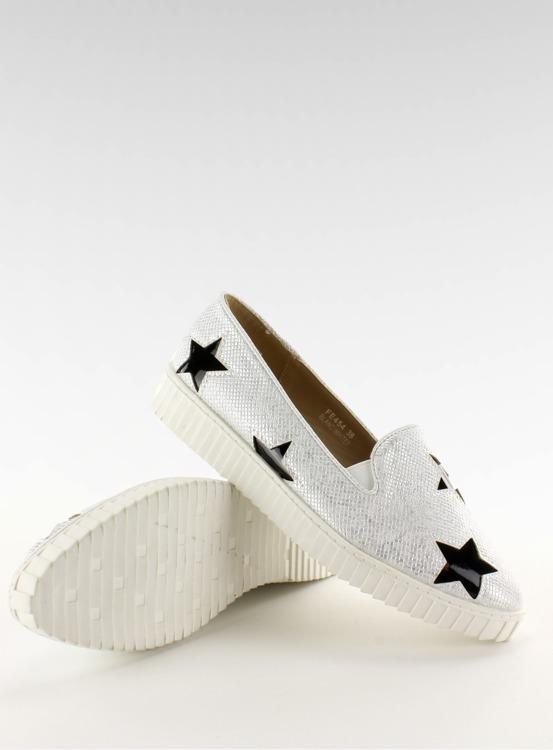 Trampki z gwiazdkami wysoka podeszwa FE454 White