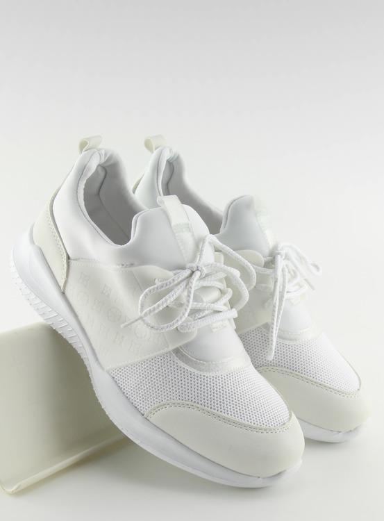 Ultra lekkie buty sportowe białe BY-069 WHITE