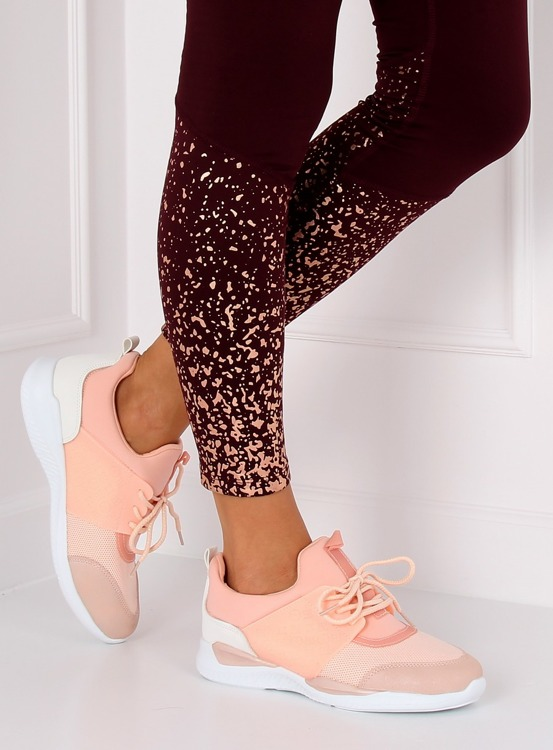 Ultra lekkie buty sportowe różowe BY-069 PINK