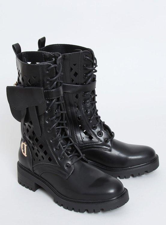 Workery ażurowe czarne NC1125P BLACK