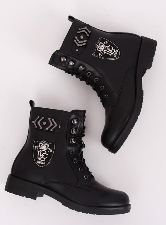 Workery botki militarne czarne X535 BLACK