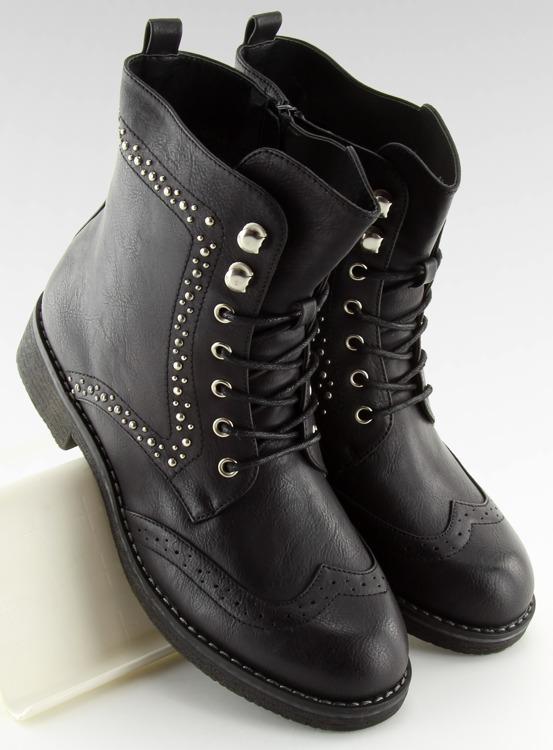 Workery z ćwiekami czarne 432-PA BLACK