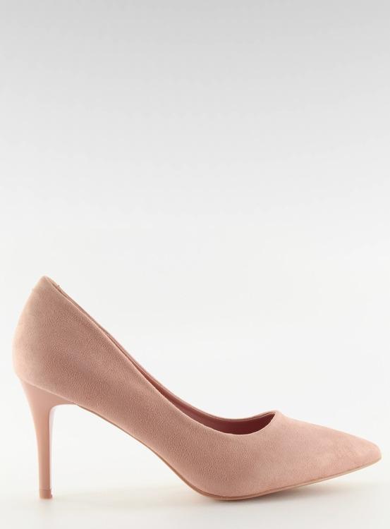 Wygodne czółenka na szpilce różowe LE012P PINK