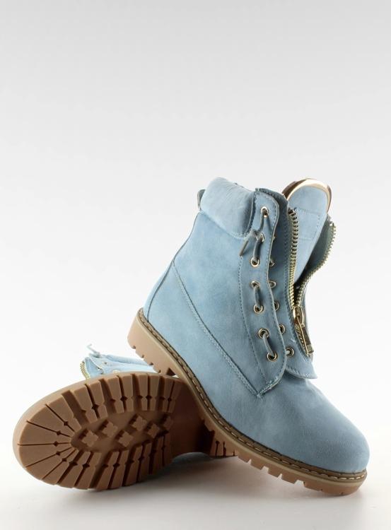 Zamszowe balmanki gładkie niebieskie NC50 L. Blue