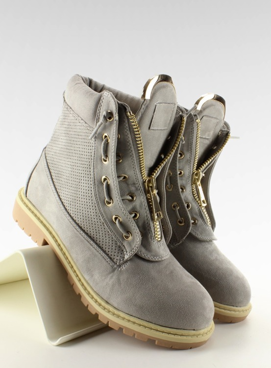 Zamszowe balmanki szare 2051 Grey