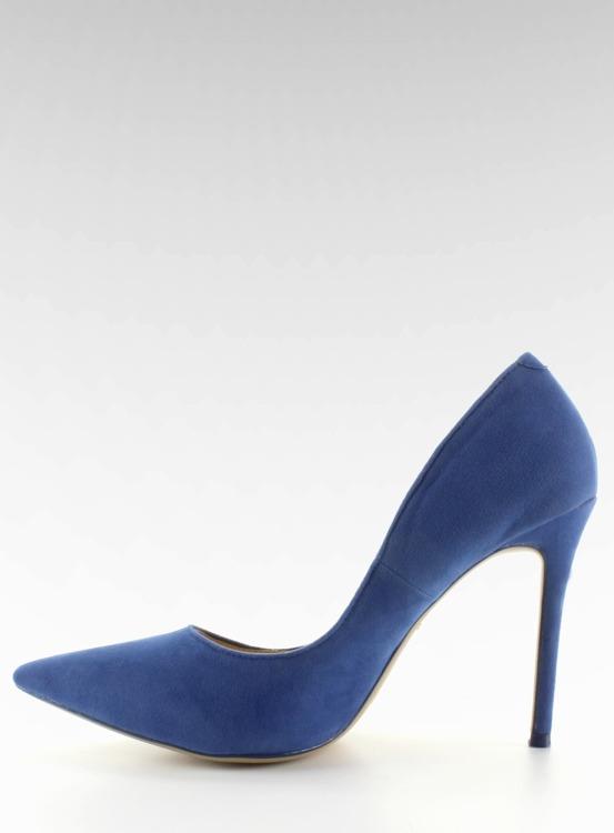 Zamszowe czółenka na szpilce 5438 Blue