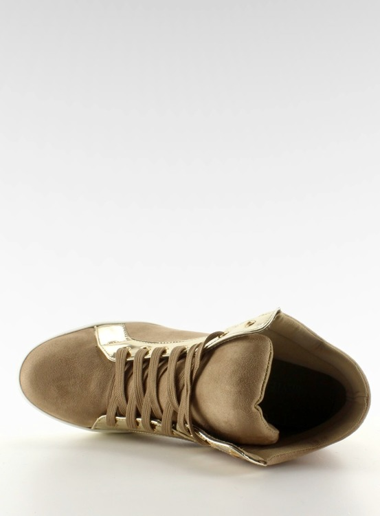 Zamszowe sneakersy AT-0593-L Khaki