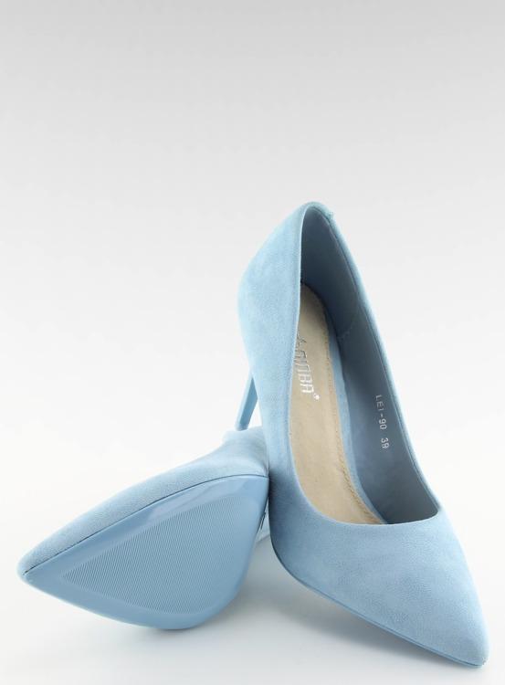 Zamszowe szpilki Candy Shop niebieskie LEI-90 L.BLUE