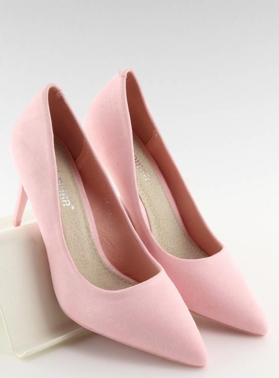 Zamszowe szpilki Candy Shop różowe LEI-90 PINK