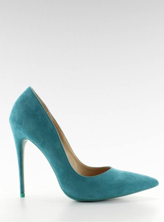 Zamszowe szpilki klasyka 5005 L. Blue