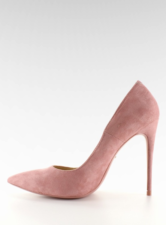 Zamszowe szpilki klasyka 5005 Pink
