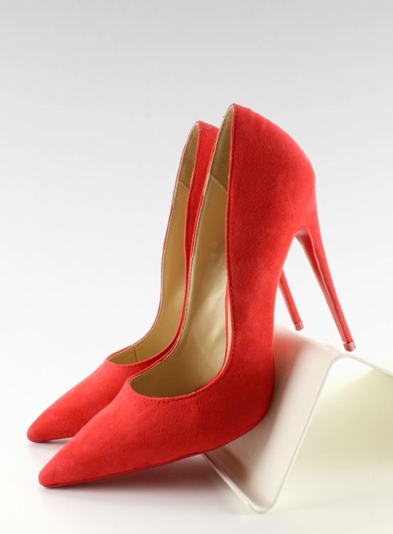 Zamszowe szpilki klasyka 5005 Red