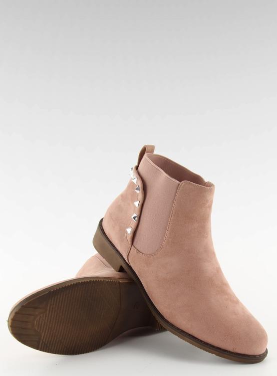 Zamszowe sztyblety z ćwiekami F175 Pink