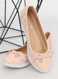 Balerinki damskie różowe 7846-P PINK