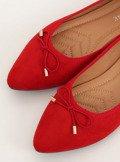 Baleriny z migdałowymi noskami czerwone 8F58 RED