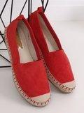 Espadryle damskie czerwone L-1068 RED
