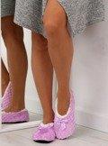 Kapcie damskie balerinki fioletowe YW-19 Fioletowy