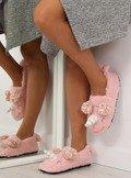 Kapcie damskie z rogiem różowe DN2116 Różowy