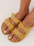 Klapki damskie żółte 6105 YELLOW