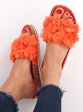 Klapki flower power pomarańczowe BG47P ORANGE