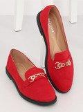Mokasyny damskie czerwone 1631-123 RED