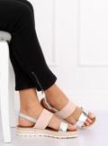Sandałki damskie różowe F056 PINK