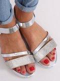 Sandałki damskie srebrne D-118 SILVER
