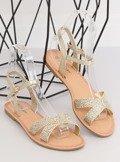 Sandałki damskiei złote WL282 GOLD