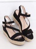 Sandałki espadryle czarne 680-38 BLACK