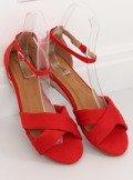Sandałki espadryle czerwone 9R121 RED