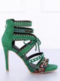 Sandałki gladiatorki zielone MT029 GREEN
