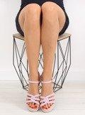 Sandałki na niskim koturnie fioletowe SR-2817 PURPLE