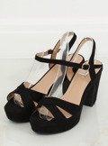 Sandałki na platformie czarne JC15017 BLACK
