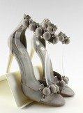 Sandałki na szpilce Funny balls LE022 Grey
