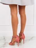 Sandałki na szpilce różowe GH-5A5733 PINK